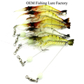 CH14SF4Noctilucent Prawn Soft Plastic Fishing Lures Shrimp Lures