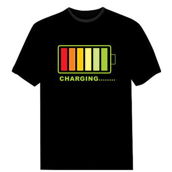 Light Up T-Shirt Sound Activated wireless LED T shirt