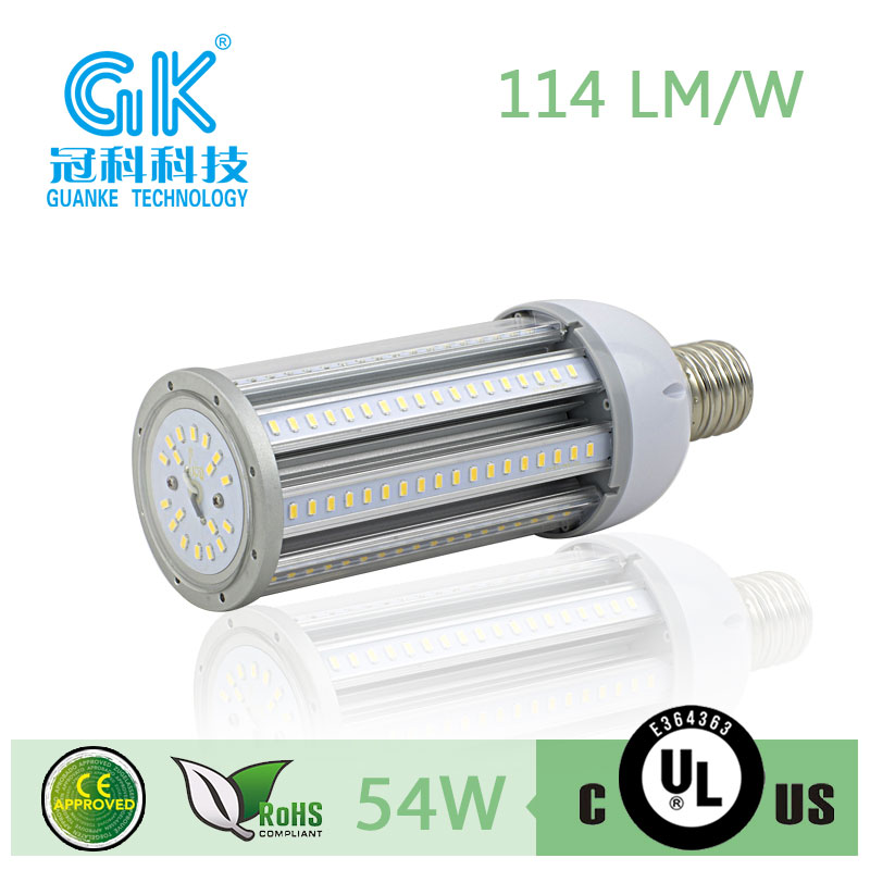 replace HPS MHL HID UL 54W led e40 street light parts