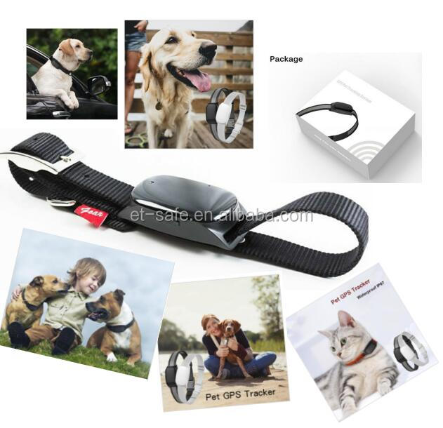 Pet Dog Cat Tracker, GPS Tracker Anti-Lost Alarm with Selfie Remote Control Shutter for iOS Android