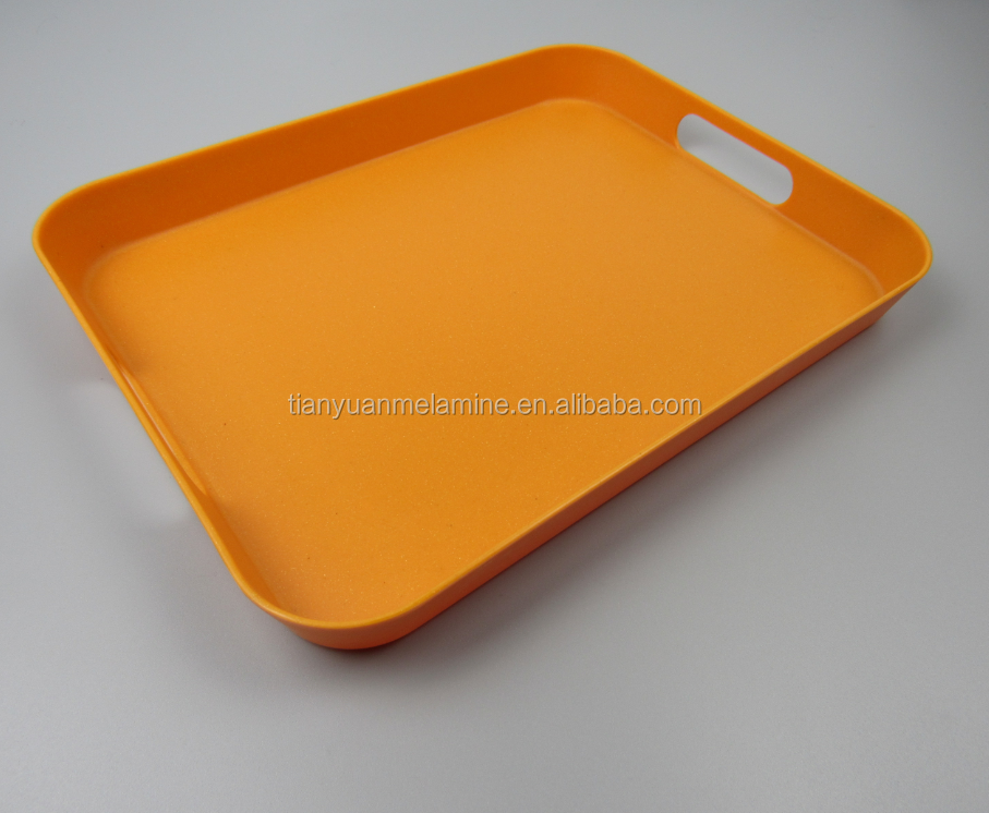 2017 colorful New design High quality Eco-friendly bamboo fibre tray melamine tray