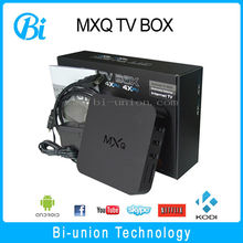 Hot selling best internet tv box mxq sex xxl android live tv box 1GB 8GB quad core android tv box xbmc kodi fully loaded