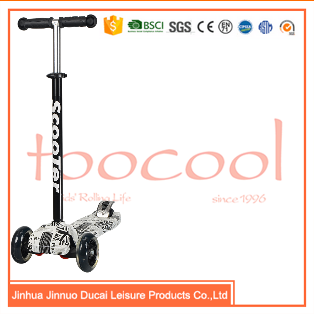 TC02 4 wheel kids step tarcle pedal scooter