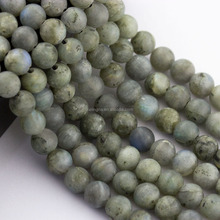 2.0mm Large Hole Hot Selling Round Matte Labradorite Gemstone Loose Beads Approximate 15.5 Inch