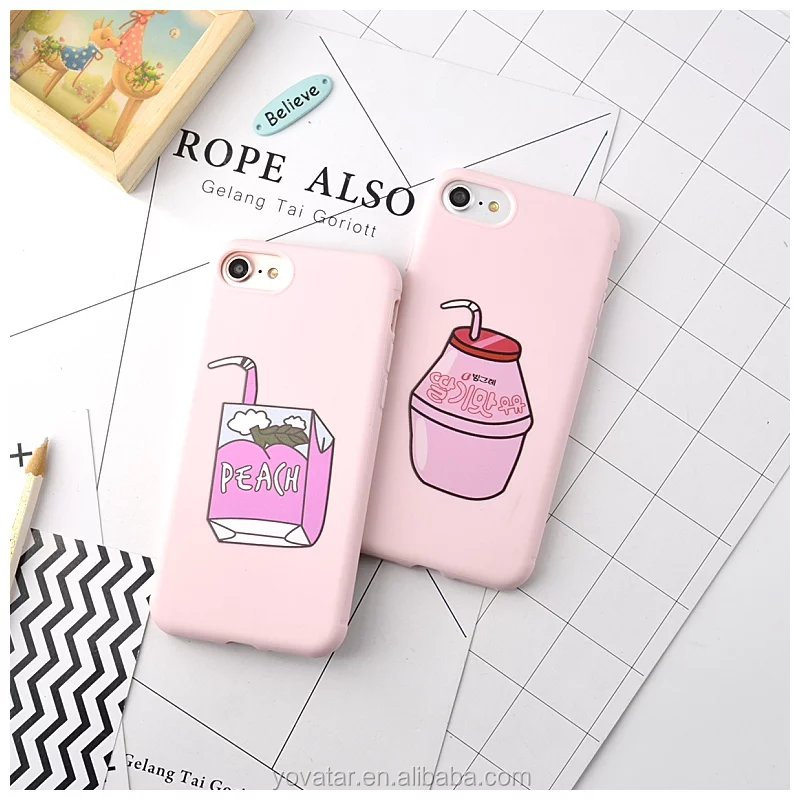 Peach Juice Skin Soft Back Cover Phone Case For iPhone 7 /Plus case