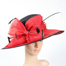 New Design Women Church Derby Wedding Cocktail Party Sinamay Hats for sale