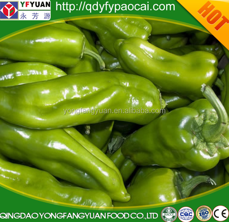 Bukl fresh IQF/frozen green pepper, chinese frozen vegetables gold supplier
