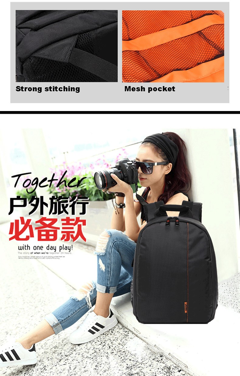 Hot! Guangzhou Brand design travel waterproof Nylon Backpack for digital slr Camera lens bag /case for women