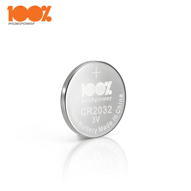 100%PeakPower Lithium Button Cell Battery CR2032