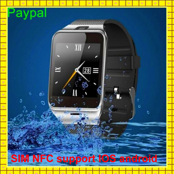 high quality water proof dual sim card watch phone