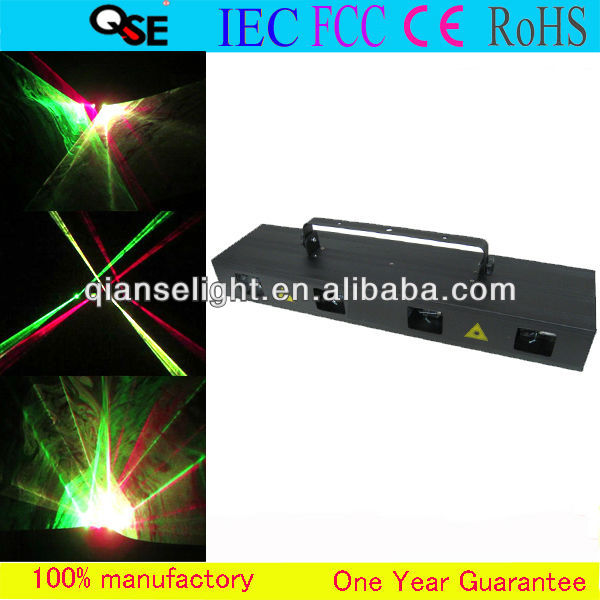 Newest Guangzhou Professional Stage Lighting 4 Heads RGB+Purple 4 Colors Stage DJ Laser Light Beam