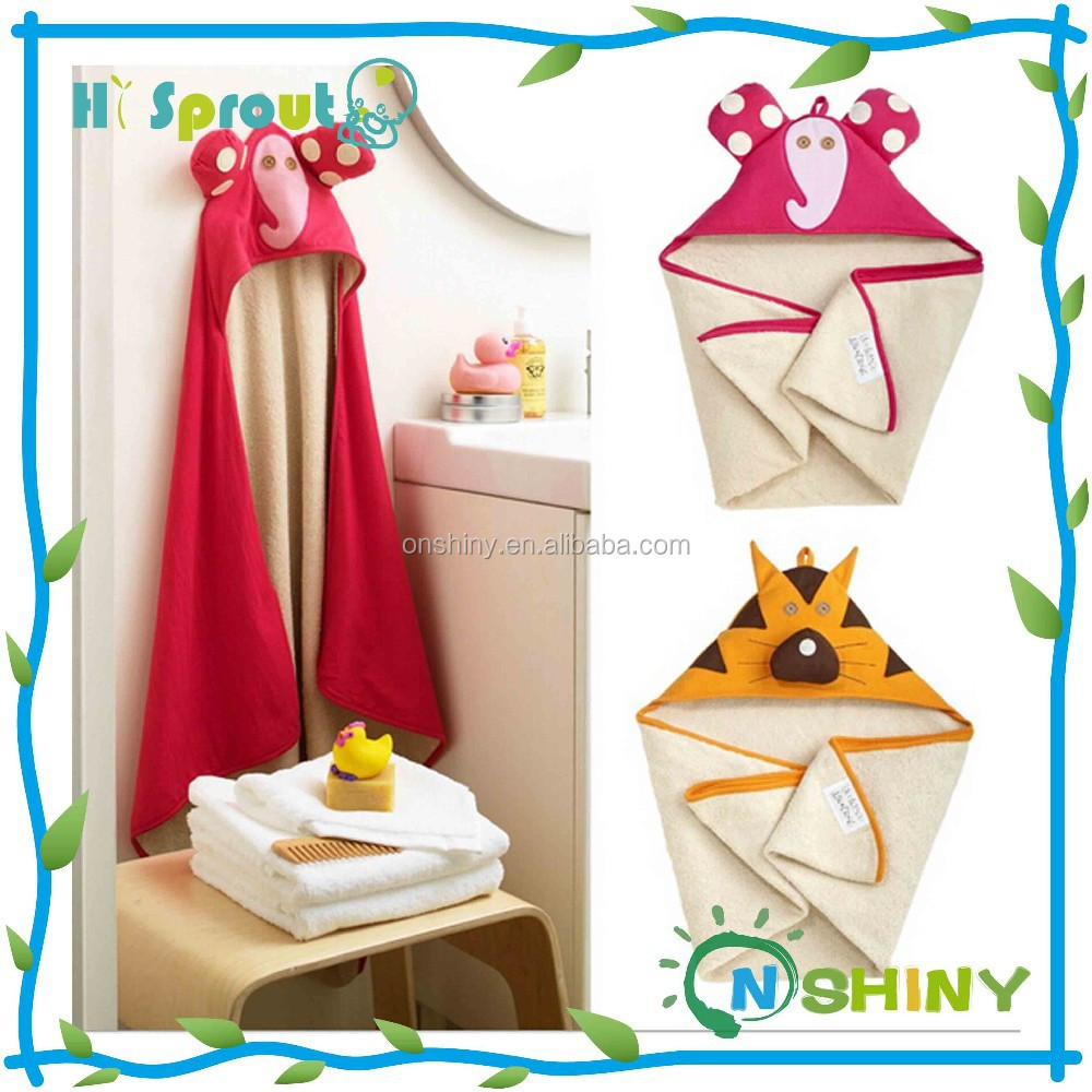 Retail boy girl Animal Baby bathrobe/baby hooded bath towel/kids bath terry children infant bathing