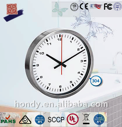 Decorative Expensive Small 240MM DCF/ MSF /JJY/ WWVB Stainless Steel 18/10 Radio Controlled Analog Wall Clock For European Areas