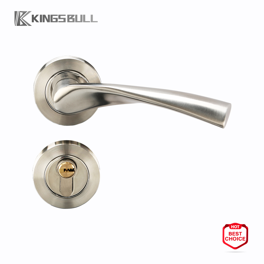 high quality european style SS201/304 stainless steel door handle/door knob