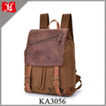 High Quality Canvas Leather backpack Sytlish Unisex School Backpack