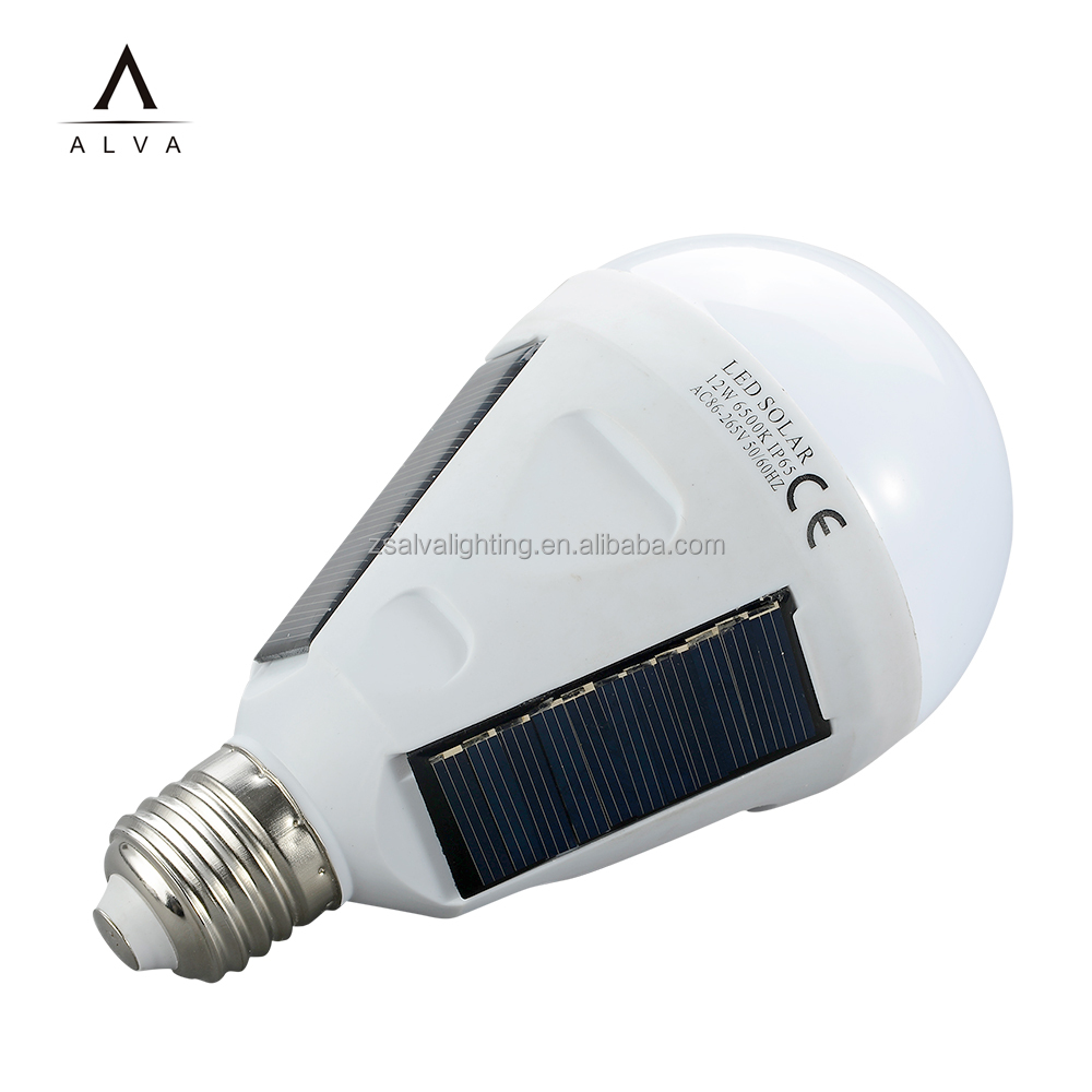China manufacturer CE ROHS b22 e27 6w 9w solar led emergency bulb zhongshan led light bulb
