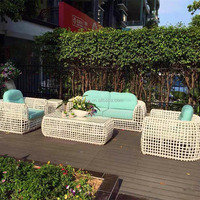 White Luxury Wicker Furniture Sofa Rattan