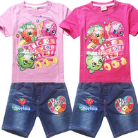 Kids Summer Outfits 2 Shopkins Baby Girl Two-piece Clothing Set