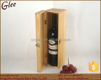 High End Single Practical Wooden Wine Carrier Box, Wine Bottle Gift Box for Sale
