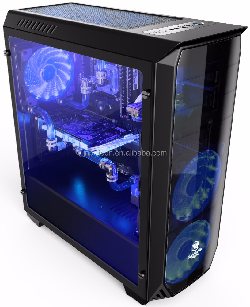Water cooling Acrylics Gaming Mid ATX pc case gaming