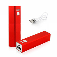 Factory Power Supply 2600 Mah Metal Case Pocket Usb Portable External Battery for Mobile Phone