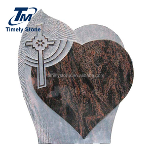 Tombstones and monuments heart cross headstone