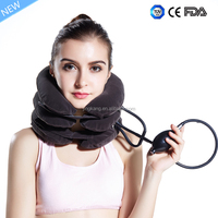 Cervical fatigue relief inflatable cervical traction offer soft neck brace / support