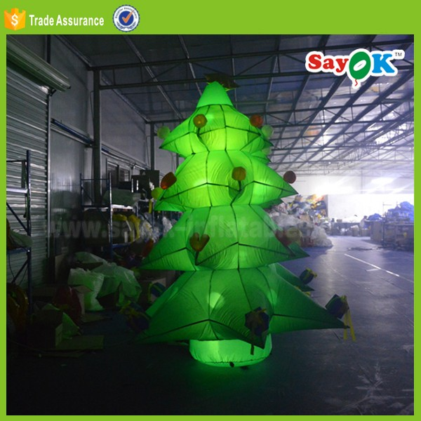 factory decoration inflatable christmas tree led stand indoor tree