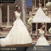 New Luxurious High Quality cathedral train wedding ball gowns