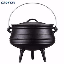 Vegetable oil camping cookware cast iron three legged pots cast iron dutch ovens