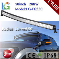 Wholesale 50Inch Curved LED Light Bar For Jeep Wrangler 4x4 4WD 288W LED Bar Lights