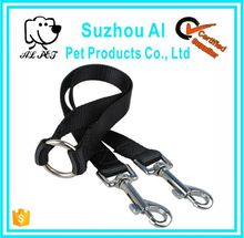 Nylon 15mm Width Walk Double Dog Two Lobster Clasp Way Double Dog Leash