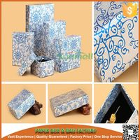Chinese blue and white porcelain decorative pattern jewelry gift paper boxes