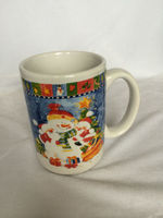 ZIBO XINYU XY-923 White Color Ceramic Mug with topic of Merry Christmas