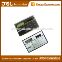 Promotional Office Gift Credit Card Small Size No Battery Mini Solar Pocket Calculator with Customized Logo