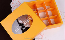 Transparent circle chocolate box cardboard packaging