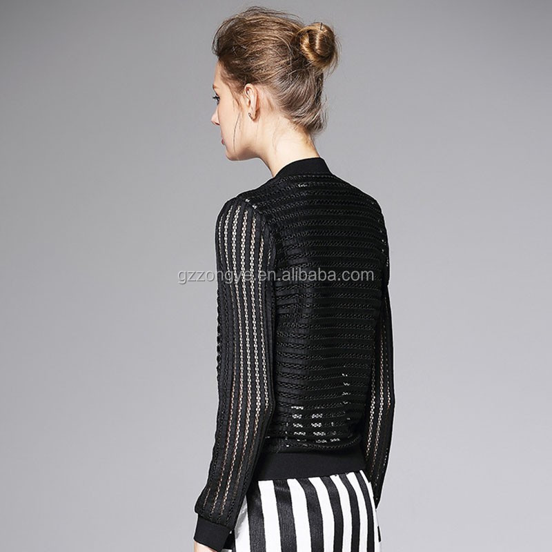 Wholesale nylon women bomber jackets for autumn