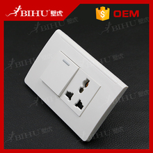 BIHU 10a 3 Pin Power Single Gang Wall Outlet Switch Socket Plate Panel Us/eu/uk Plug