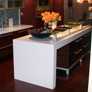 White Quartz Dining Table Top Countertop for Kitchen
