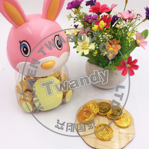 Small rabbit canned gold chocolate