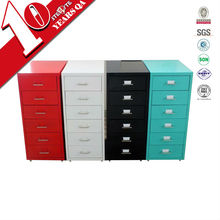 Vertical free standing iron or steel storage cabinet with 6 drawers