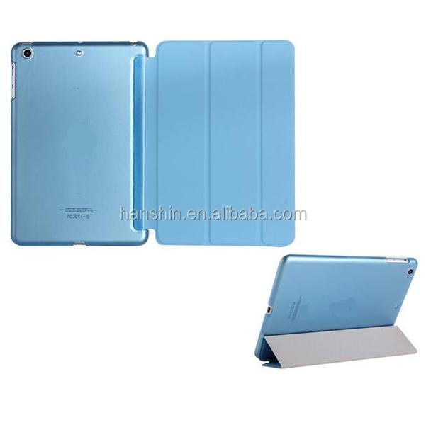 Classical Smart Cover Case with Auto Sleep Wake Function Multi-folding Stand Leather case For iPad Min 1,2,3,4
