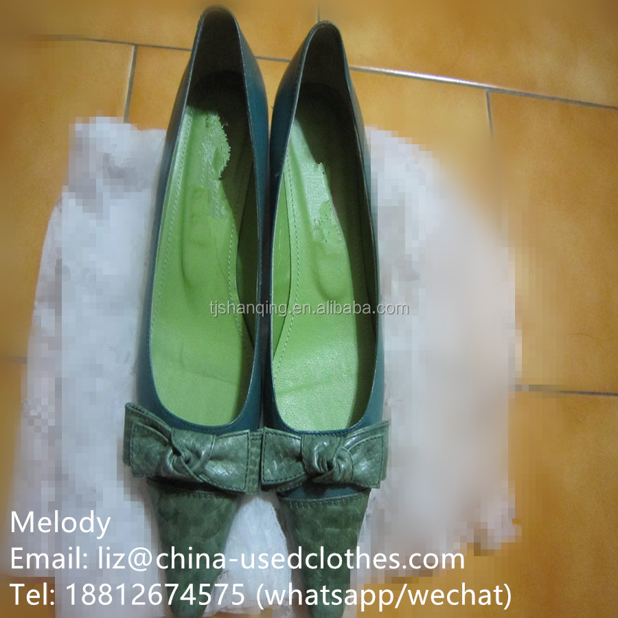 used shoes/ used ladies snakeskin leather shoes