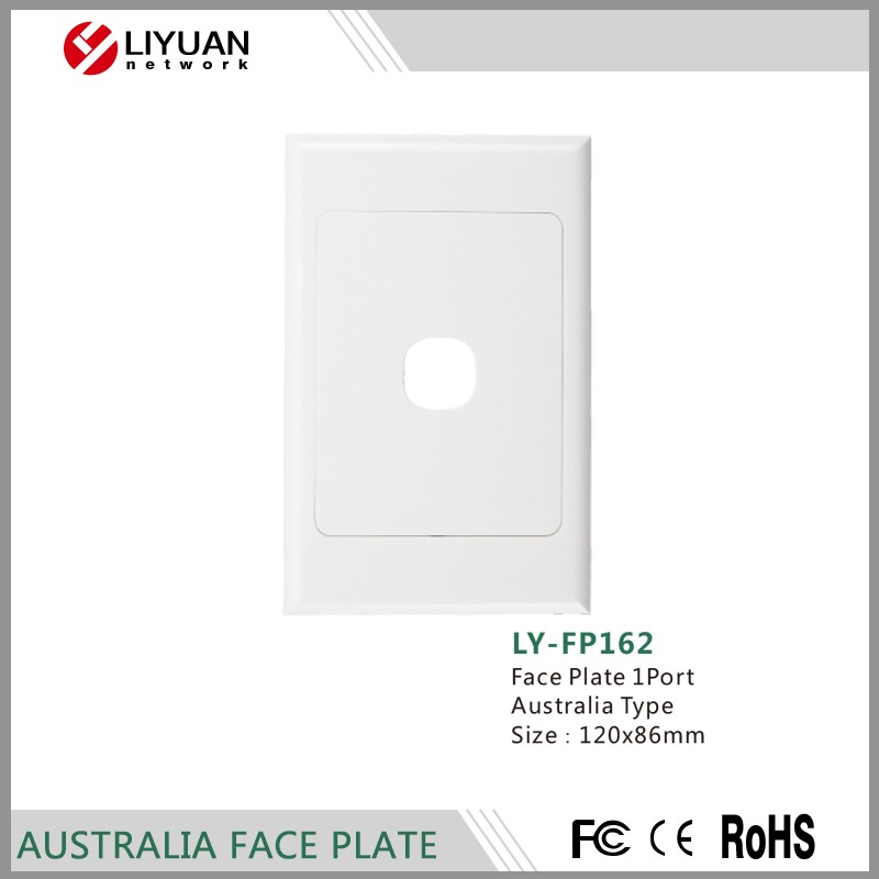 LY-FP162 With PVC, ABS 1 port 120 type rj45 network faceplate/face plate with 1 2 3 4 6 port