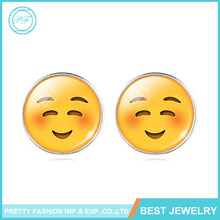 2016 Simple Fashion Cartoon Emoji Expression Package Stud Earrings