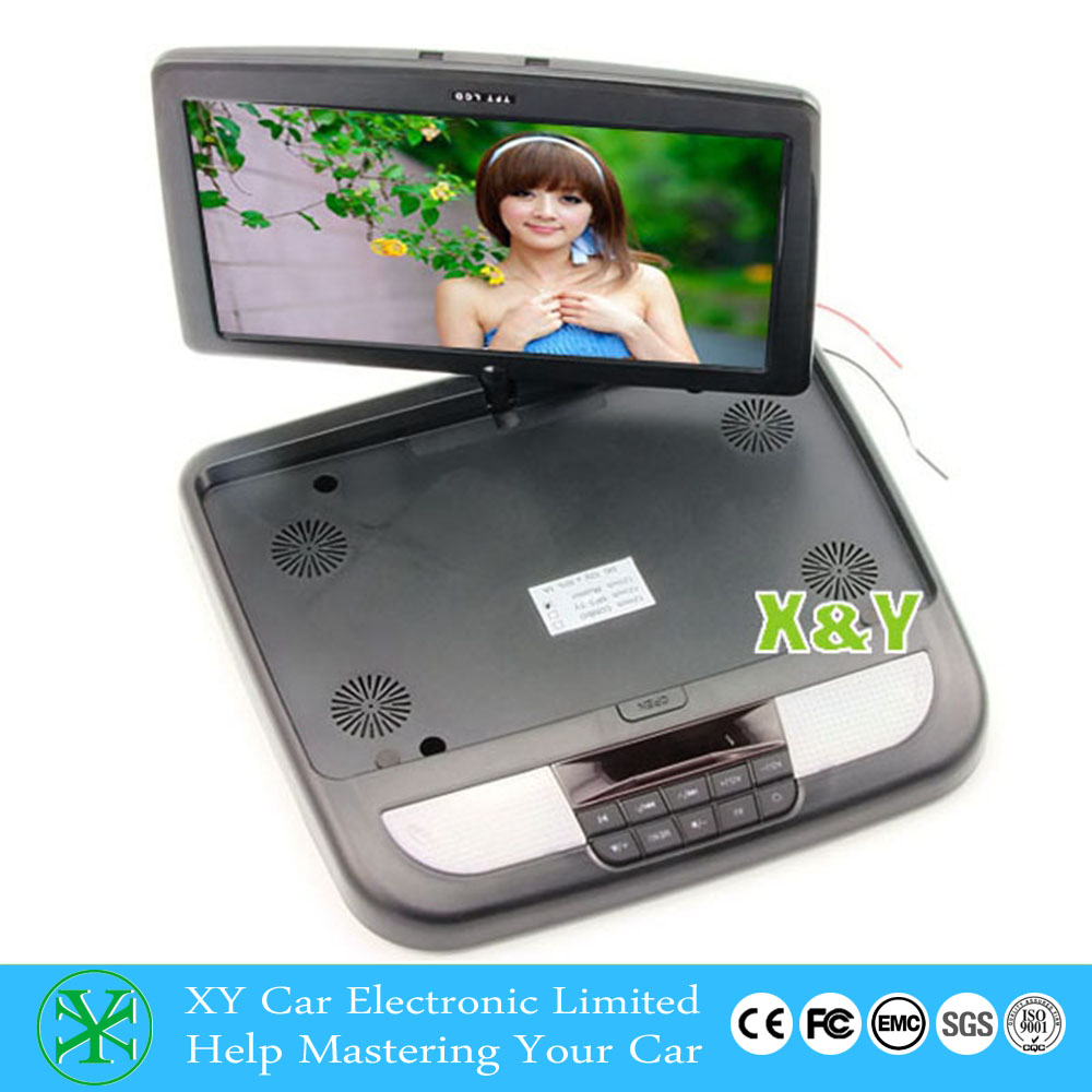 HD Digital Panel Super Slim 12Inch Flip Up Screen roof DVD, Car Roof Mounted DVD XY-128DVD