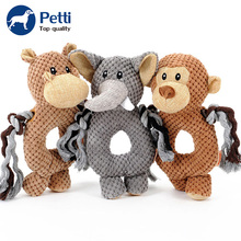Lovely Soft New Design Monkey Shape Squeaky Toy Brown Pet Toys Plush For Dog