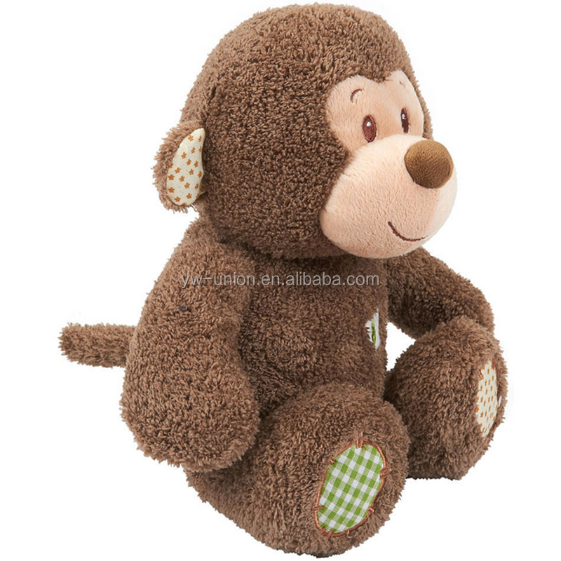 Battery operated moving plush monkey speaking dolls for sale