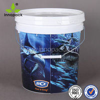 5 liter paint bucket 1 gallon plastic pail food grade container