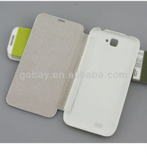 S5 flip leather phone case for karbonn